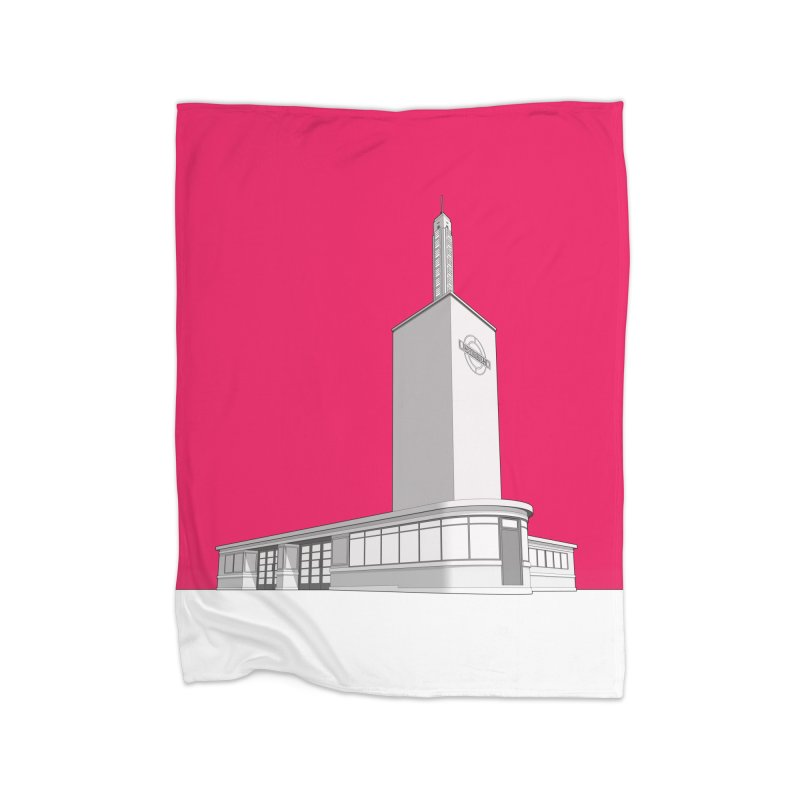 Osterley Station Home Fleece Blanket Blanket by Pig's Ear Gear on Threadless