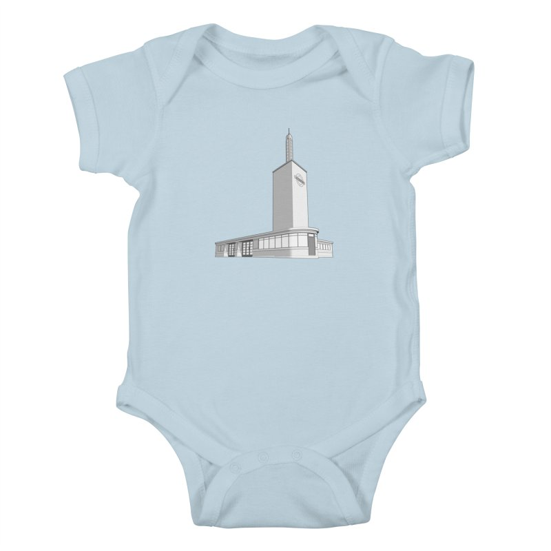 Osterley Station Kids Baby Bodysuit by Pig's Ear Gear on Threadless