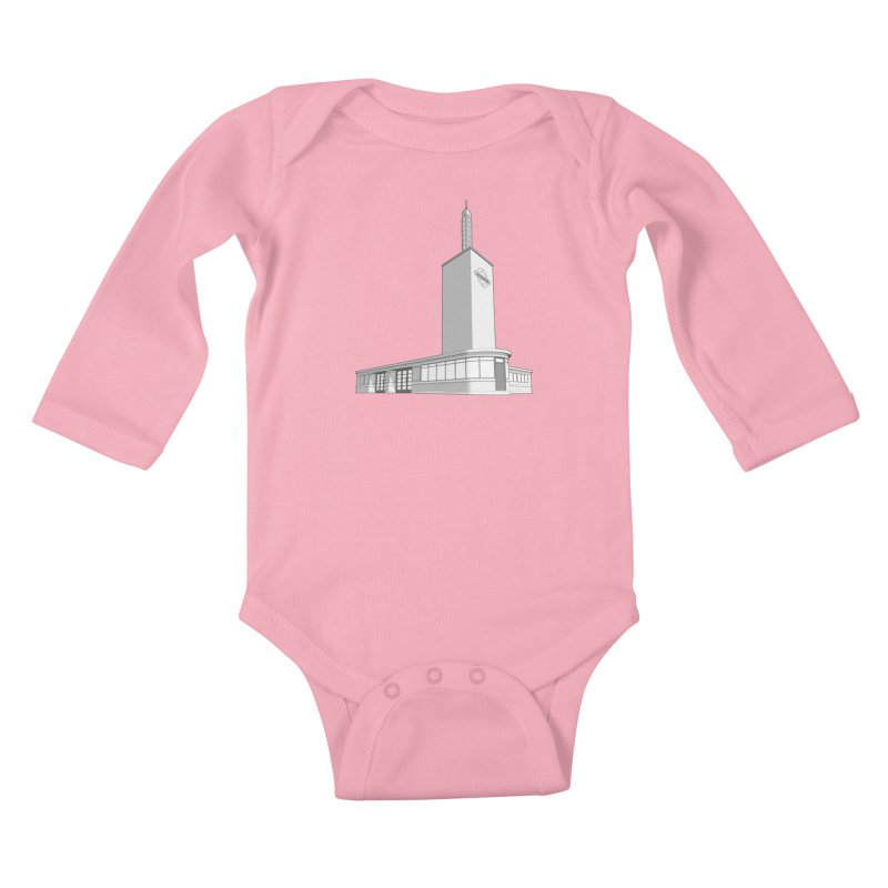 Osterley Station Kids Baby Longsleeve Bodysuit by Pig's Ear Gear on Threadless