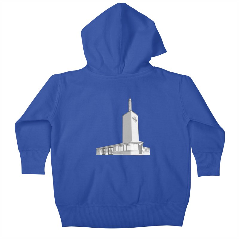 Osterley Station Kids Baby Zip-Up Hoody by Pig's Ear Gear on Threadless