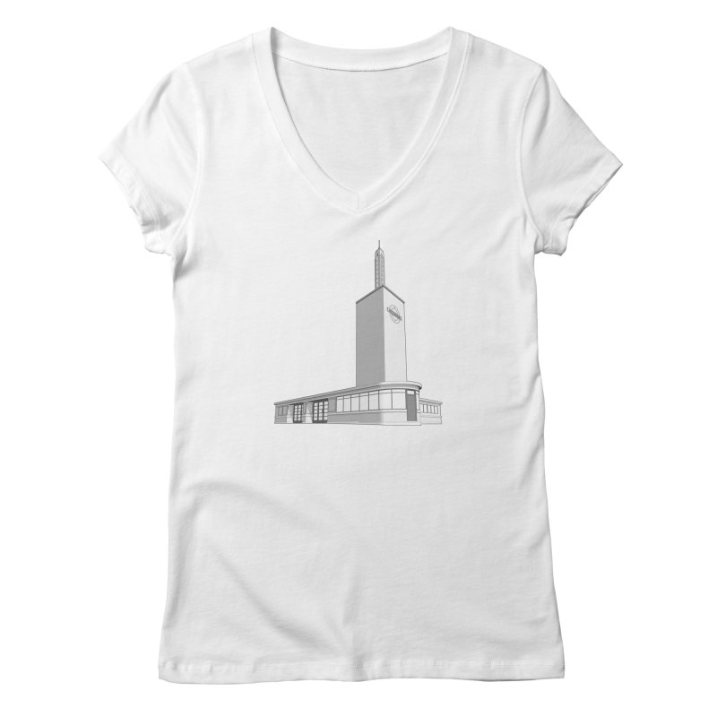 Osterley Station Women's Regular V-Neck by Pig's Ear Gear on Threadless