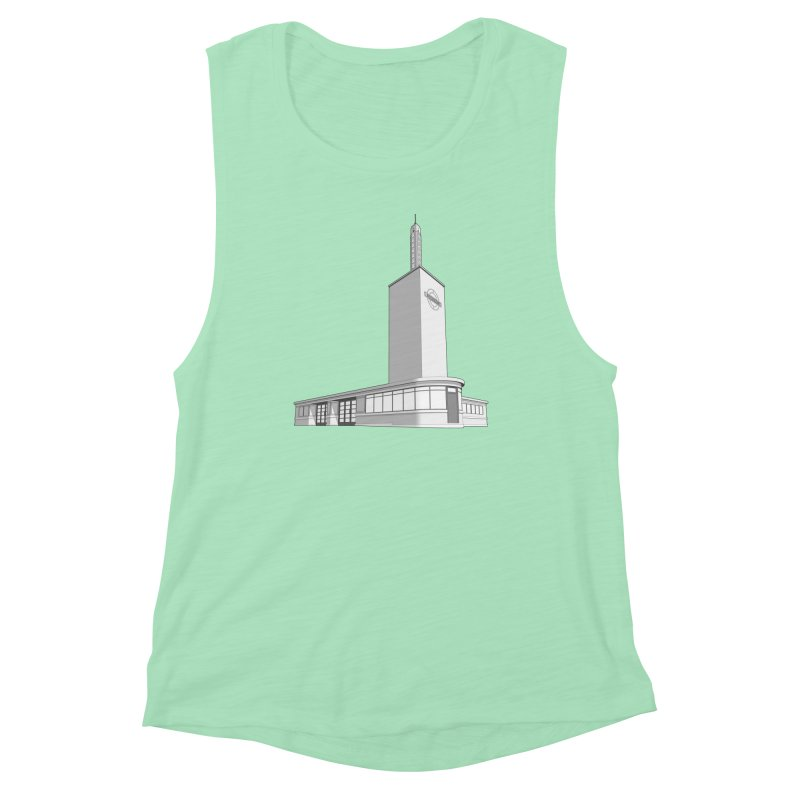 Osterley Station Women's Muscle Tank by Pig's Ear Gear on Threadless