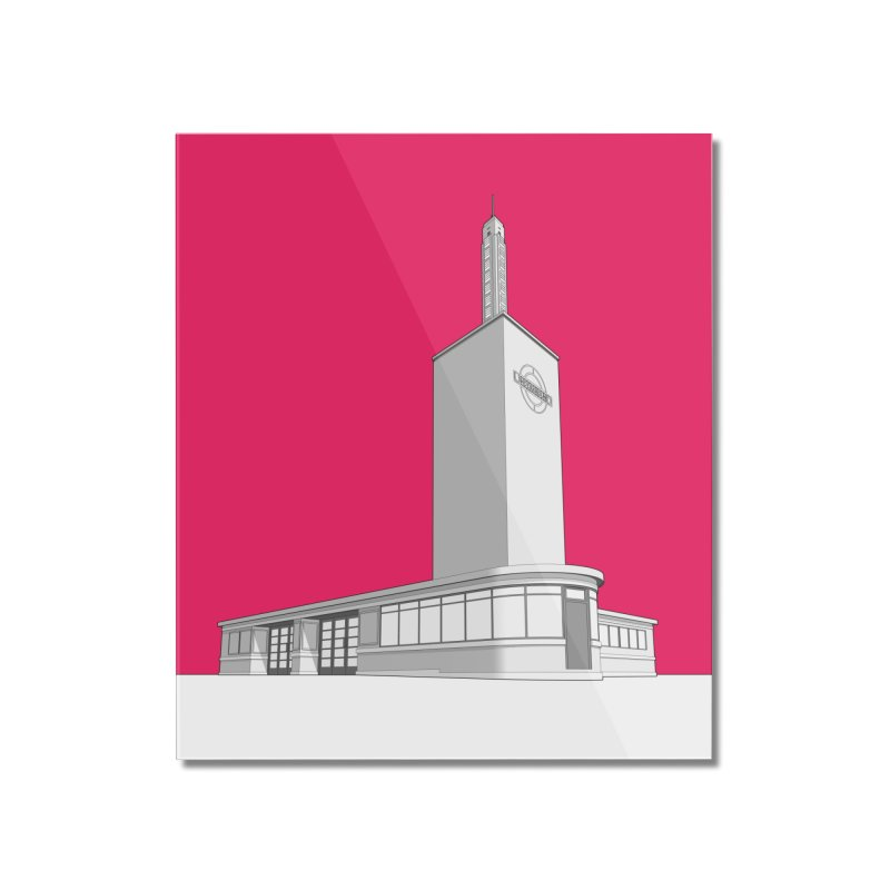 Osterley Station Home Mounted Acrylic Print by Pig's Ear Gear on Threadless