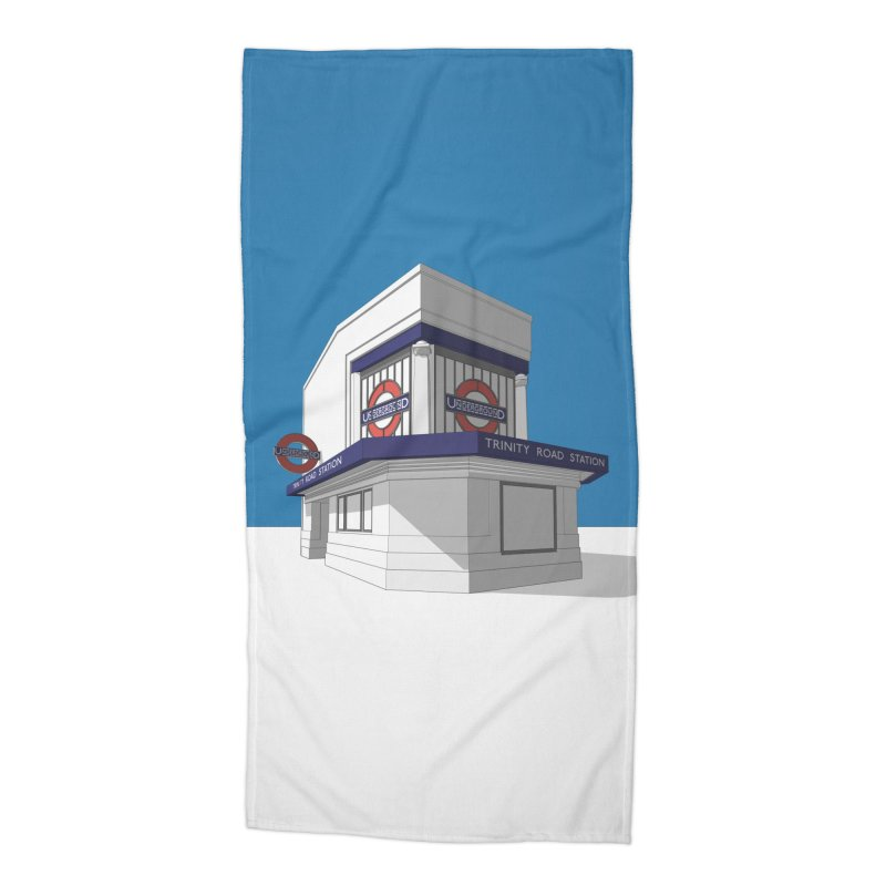 Trinity Road (Tooting Bec) Accessories Beach Towel by Pig's Ear Gear on Threadless