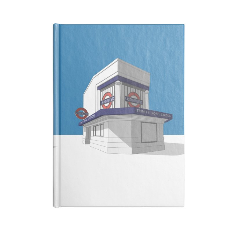 Trinity Road (Tooting Bec) Accessories Blank Journal Notebook by Pig's Ear Gear on Threadless