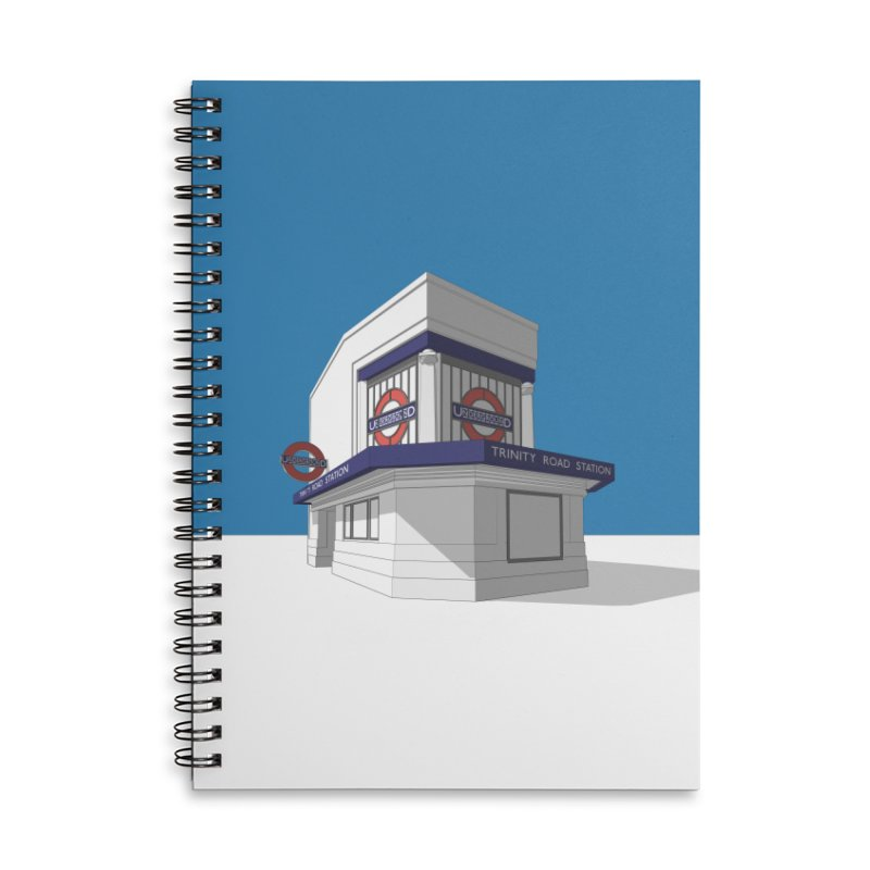 Trinity Road (Tooting Bec) Accessories Lined Spiral Notebook by Pig's Ear Gear on Threadless