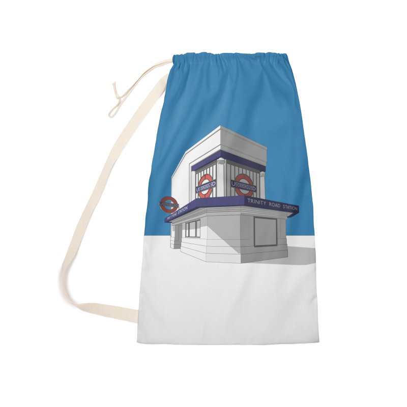 Trinity Road (Tooting Bec) Accessories Laundry Bag Bag by Pig's Ear Gear on Threadless
