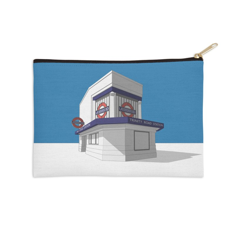 Trinity Road (Tooting Bec) Accessories Zip Pouch by Pig's Ear Gear on Threadless