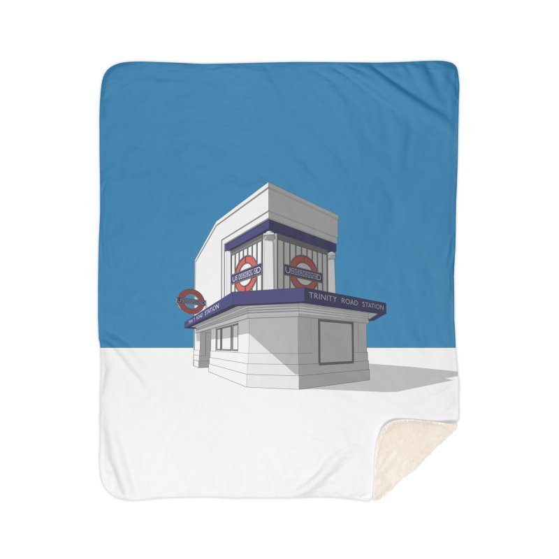 Trinity Road (Tooting Bec) Home Sherpa Blanket Blanket by Pig's Ear Gear on Threadless