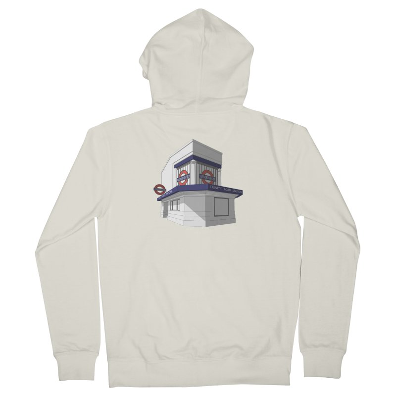 Trinity Road (Tooting Bec) Women's French Terry Zip-Up Hoody by Pig's Ear Gear on Threadless