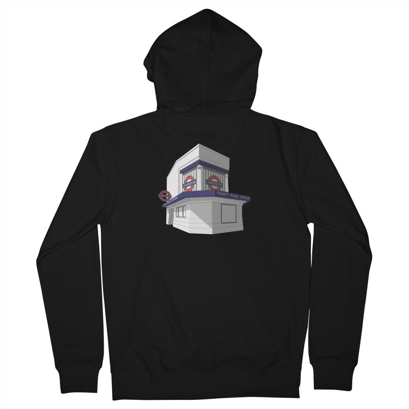 Trinity Road (Tooting Bec) Men's French Terry Zip-Up Hoody by Pig's Ear Gear on Threadless