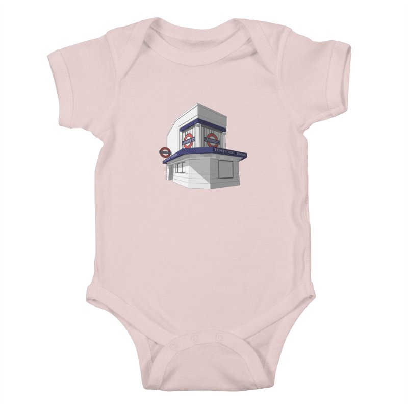 Trinity Road (Tooting Bec) Kids Baby Bodysuit by Pig's Ear Gear on Threadless