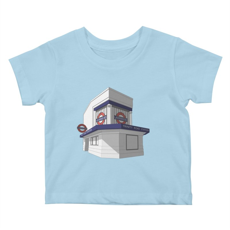 Trinity Road (Tooting Bec) Kids Baby T-Shirt by Pig's Ear Gear on Threadless