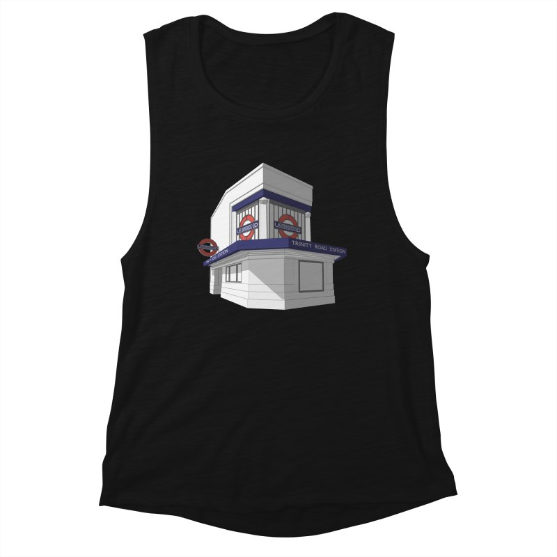 Trinity Road (Tooting Bec) Women's Muscle Tank by Pig's Ear Gear on Threadless