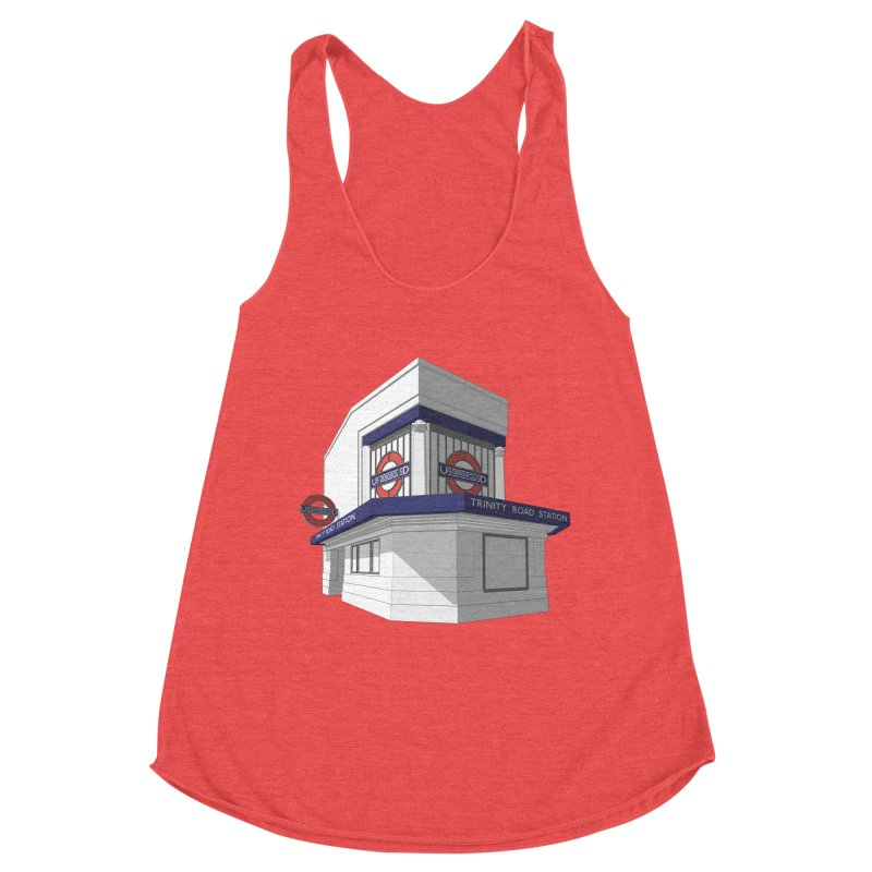 Trinity Road (Tooting Bec) Women's Racerback Triblend Tank by Pig's Ear Gear on Threadless