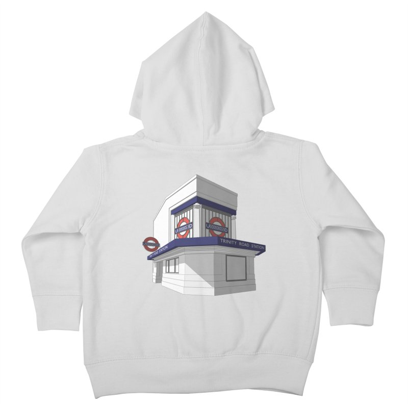 Trinity Road (Tooting Bec) Kids Toddler Zip-Up Hoody by Pig's Ear Gear on Threadless