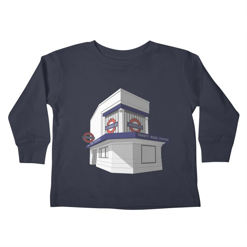 Trinity Road (Tooting Bec) Kids Toddler Longsleeve T-Shirt by Pig's Ear Gear on Threadless