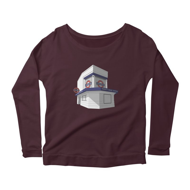 Trinity Road (Tooting Bec) Women's Scoop Neck Longsleeve T-Shirt by Pig's Ear Gear on Threadless