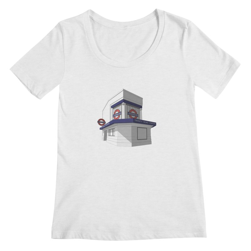 Trinity Road (Tooting Bec) Women's Scoop Neck by Pig's Ear Gear on Threadless
