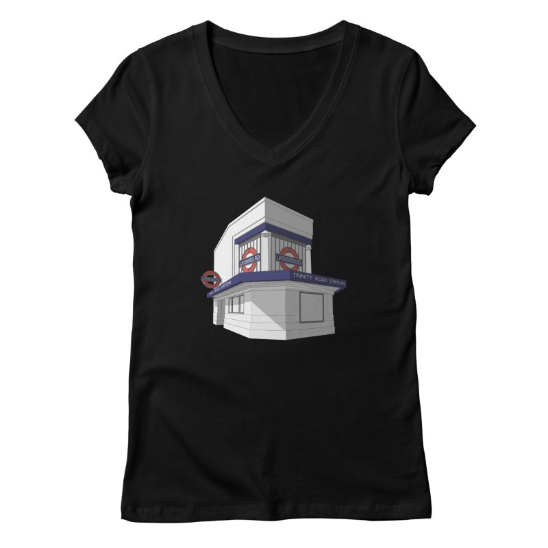 Trinity Road (Tooting Bec) Women's V-Neck by Pig's Ear Gear on Threadless