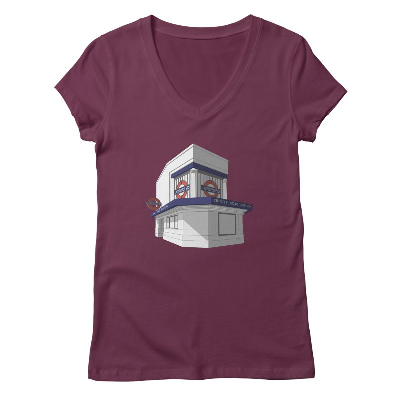 Trinity Road (Tooting Bec) Women's Regular V-Neck by Pig's Ear Gear on Threadless