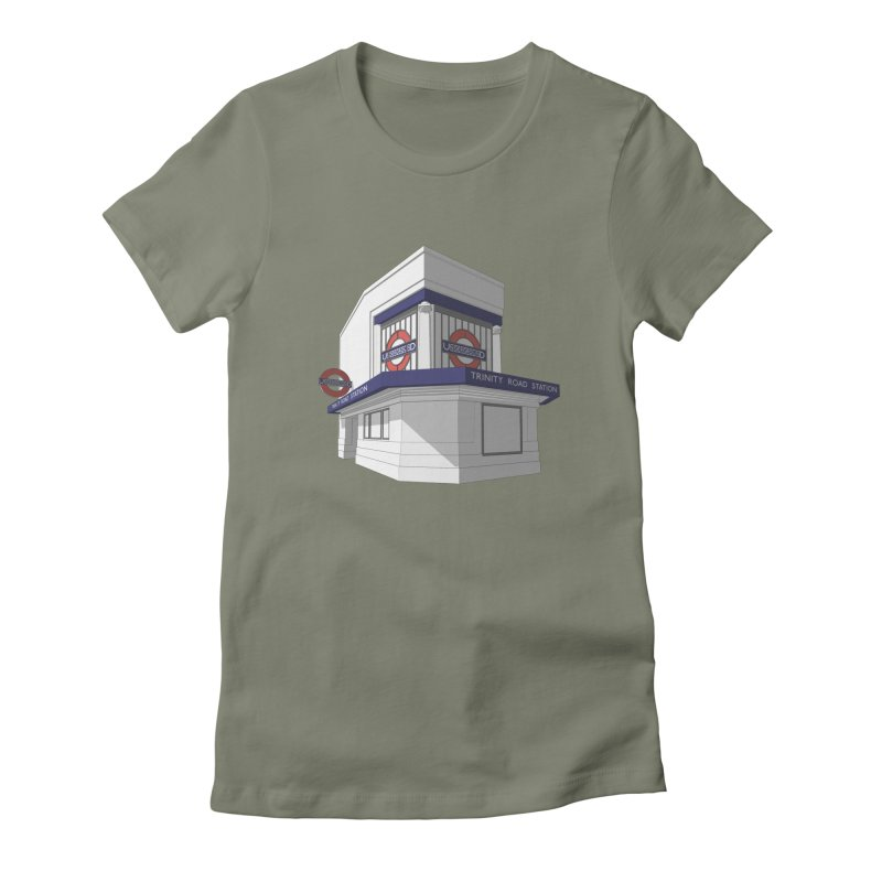 Trinity Road (Tooting Bec) Women's Fitted T-Shirt by Pig's Ear Gear on Threadless