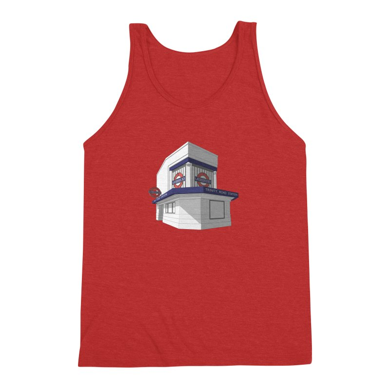 Trinity Road (Tooting Bec) Men's Triblend Tank by Pig's Ear Gear on Threadless