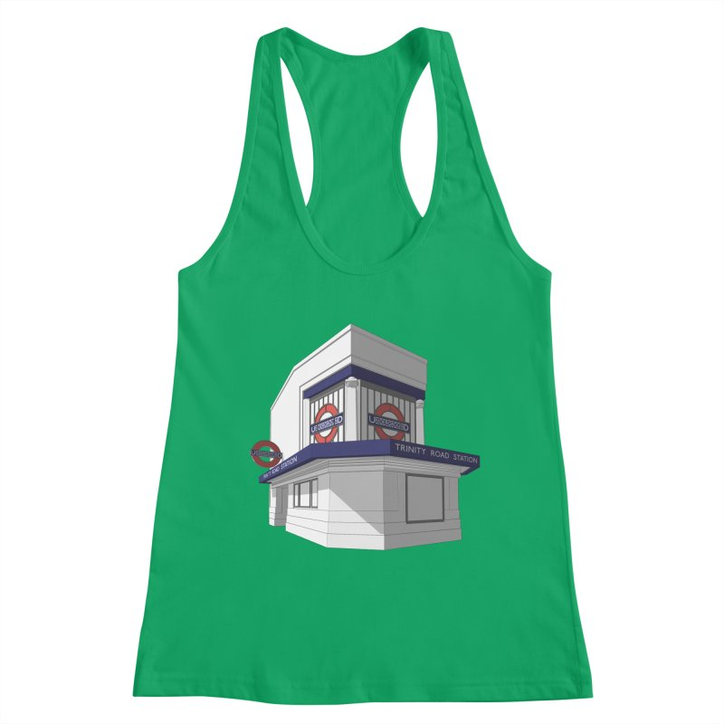 Trinity Road (Tooting Bec) Women's Racerback Tank by Pig's Ear Gear on Threadless