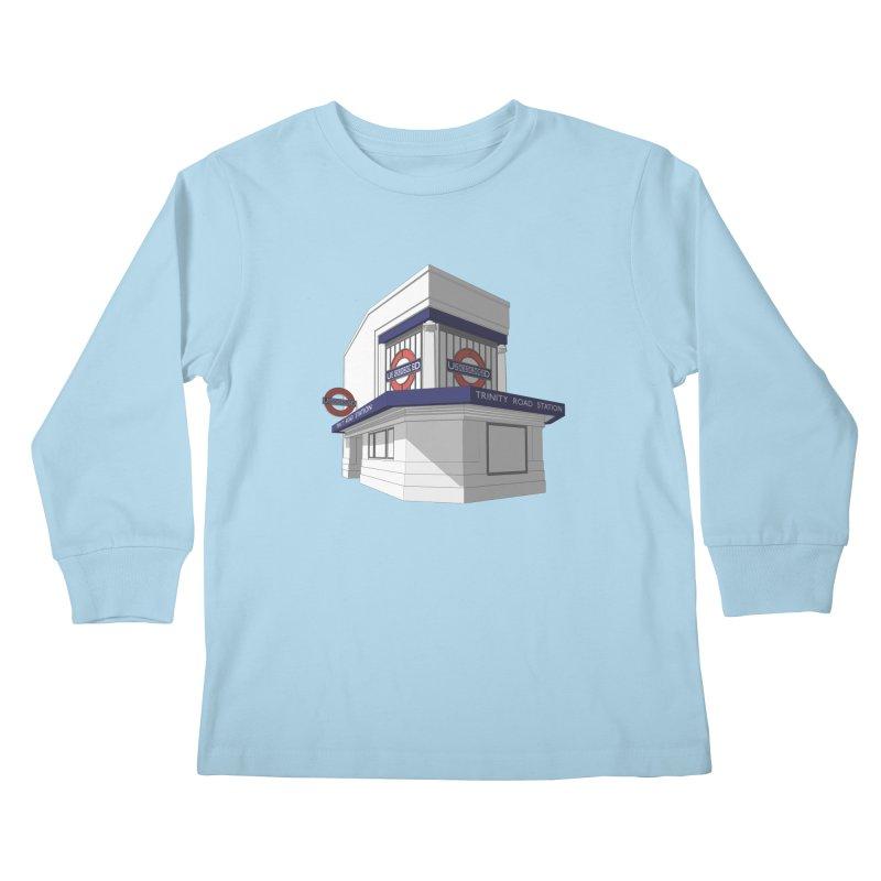 Trinity Road (Tooting Bec) Kids Longsleeve T-Shirt by Pig's Ear Gear on Threadless