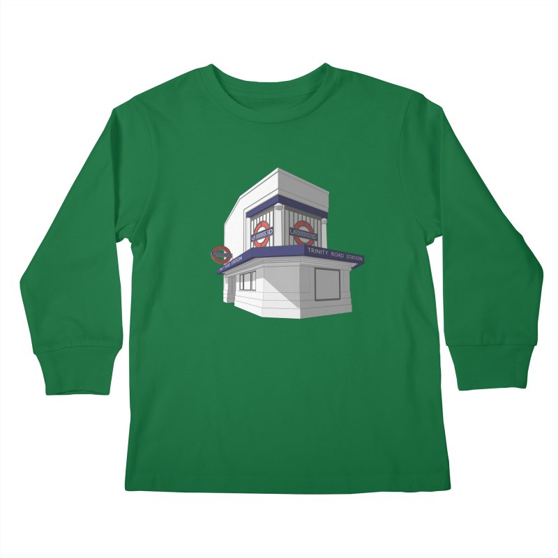 Trinity Road (Tooting Bec) Kids Longsleeve T-Shirt by Pig's Ear Gear on Threadless