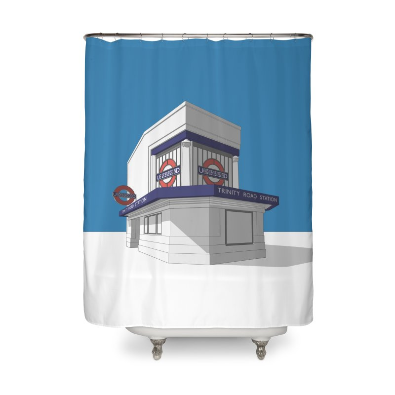 Trinity Road (Tooting Bec) Home Shower Curtain by Pig's Ear Gear on Threadless