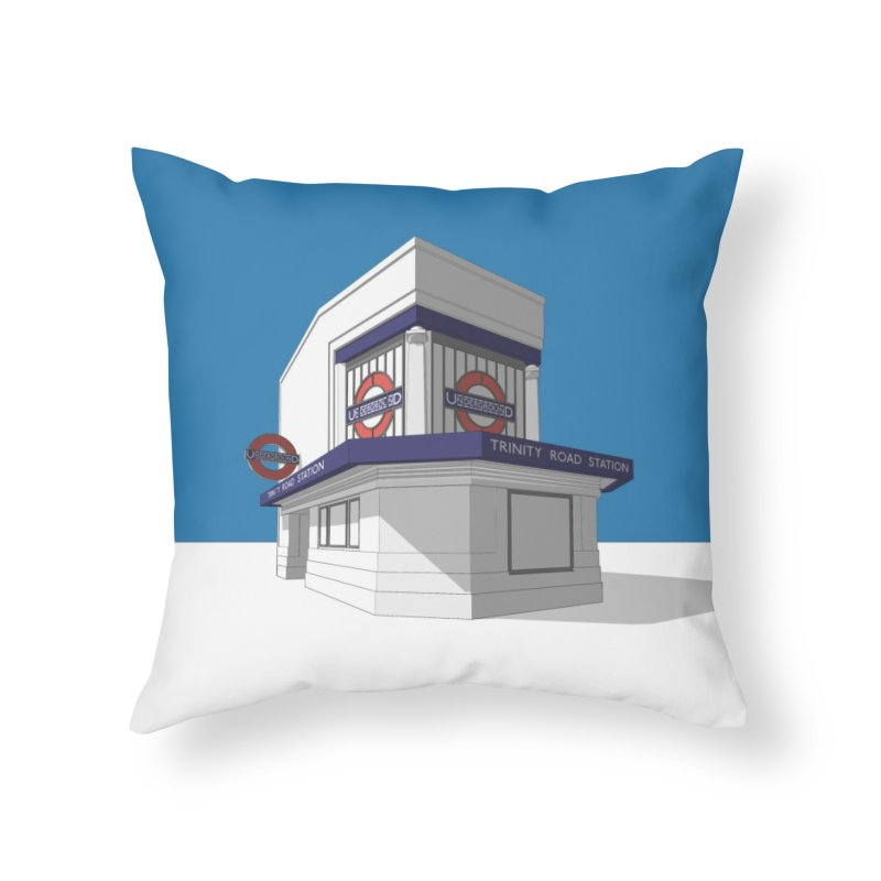 Trinity Road (Tooting Bec) Home Throw Pillow by Pig's Ear Gear on Threadless