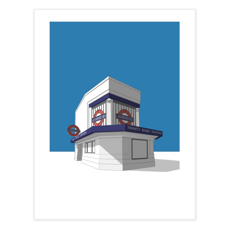 Trinity Road (Tooting Bec) Home Fine Art Print by Pig's Ear Gear on Threadless