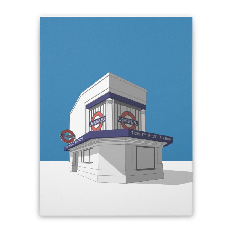 Trinity Road (Tooting Bec) Home Stretched Canvas by Pig's Ear Gear on Threadless