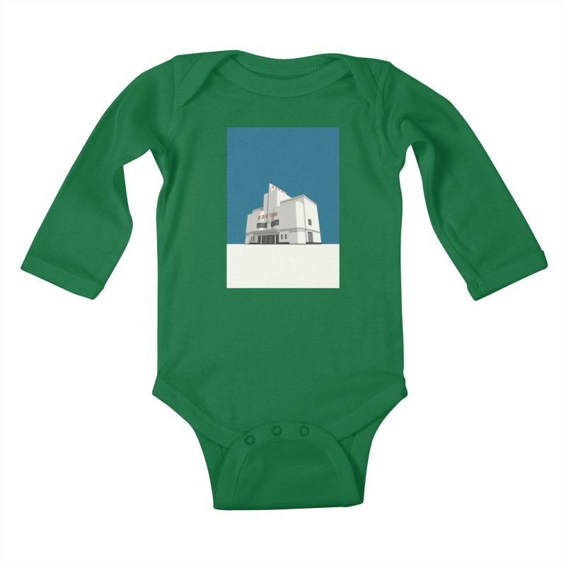 ODEON Balham Kids Baby Longsleeve Bodysuit by Pig's Ear Gear on Threadless