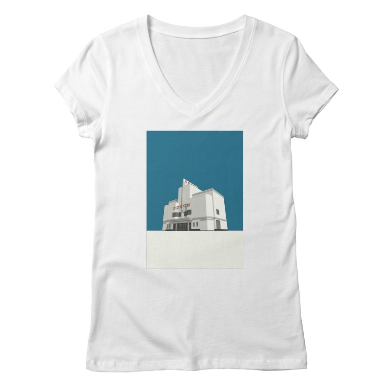 ODEON Balham Women's Regular V-Neck by Pig's Ear Gear on Threadless