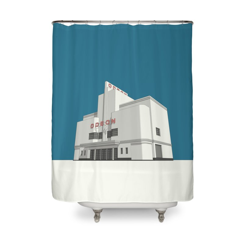 ODEON Balham Home Shower Curtain by Pig's Ear Gear on Threadless