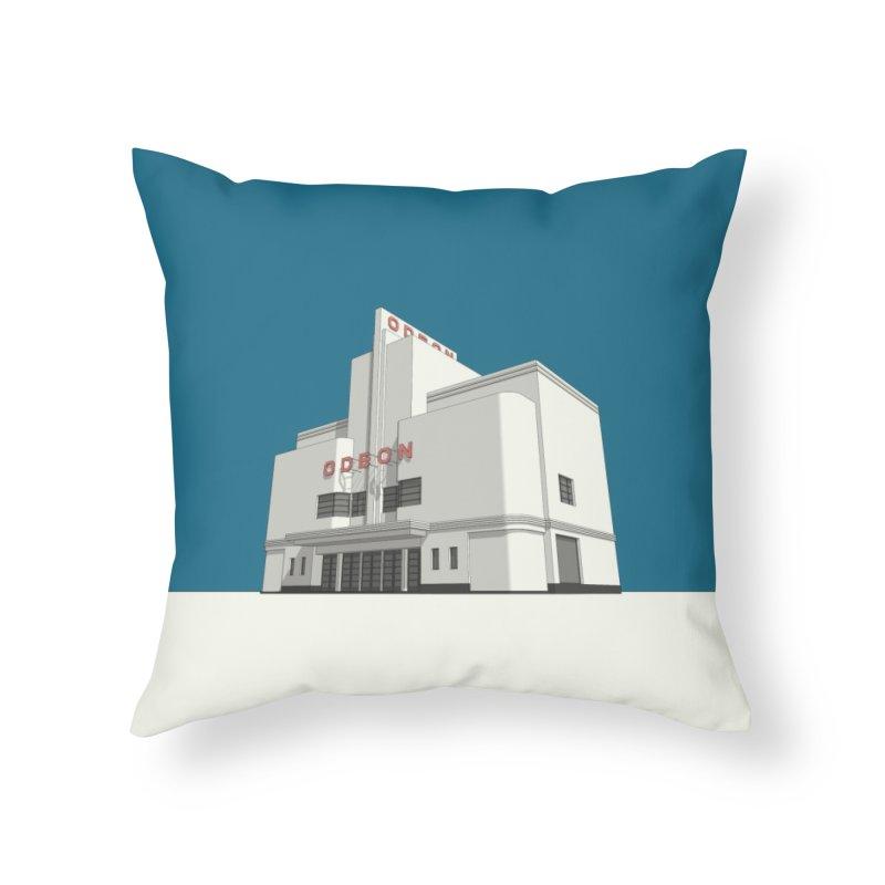 ODEON Balham Home Throw Pillow by Pig's Ear Gear on Threadless