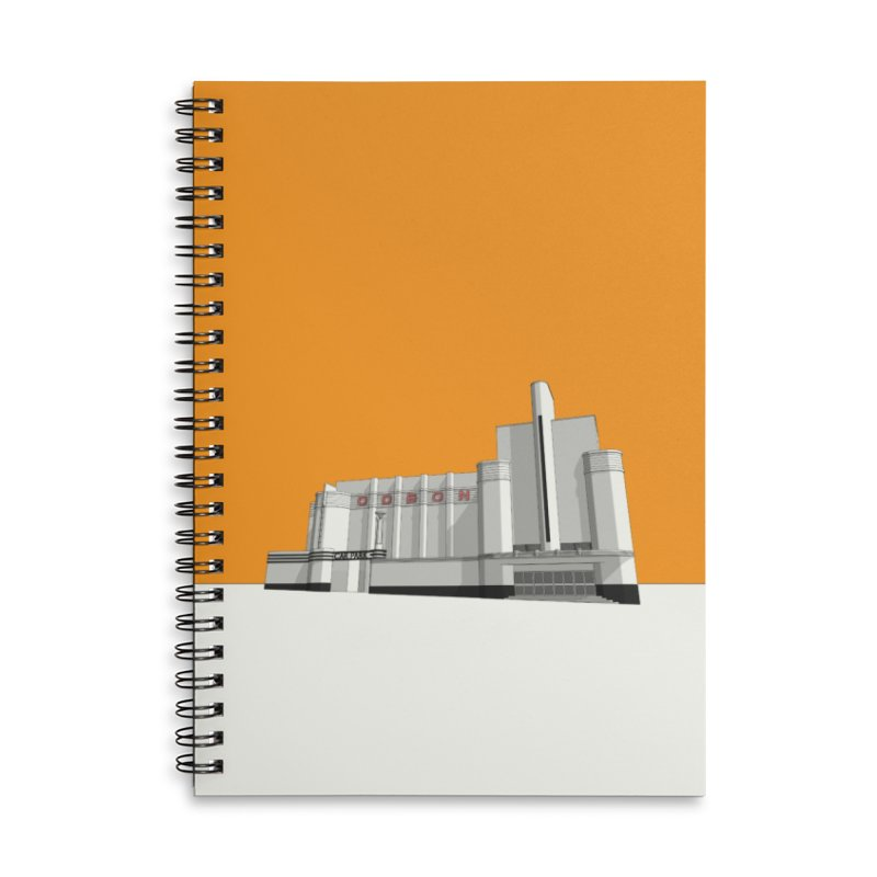 ODEON Woolwich Accessories Lined Spiral Notebook by Pig's Ear Gear on Threadless