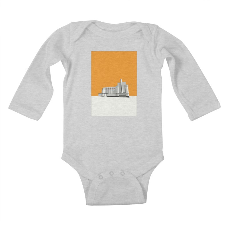 ODEON Woolwich Kids Baby Longsleeve Bodysuit by Pig's Ear Gear on Threadless