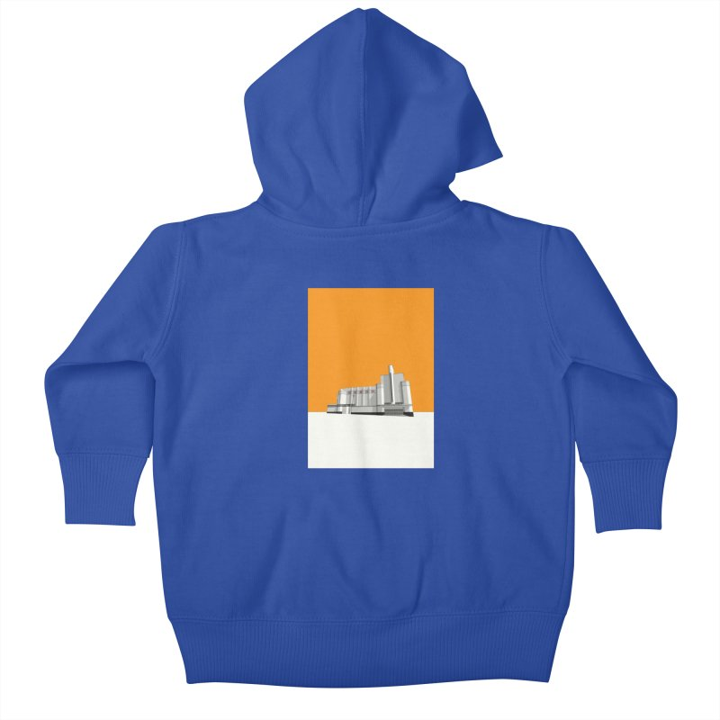 ODEON Woolwich Kids Baby Zip-Up Hoody by Pig's Ear Gear on Threadless