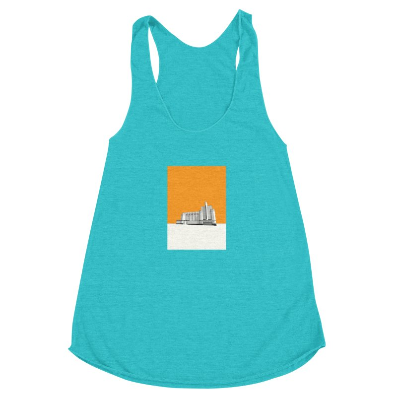 ODEON Woolwich Women's Racerback Triblend Tank by Pig's Ear Gear on Threadless