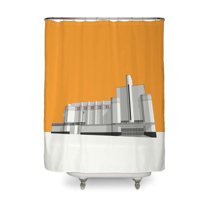 ODEON Woolwich Home Shower Curtain by Pig's Ear Gear on Threadless