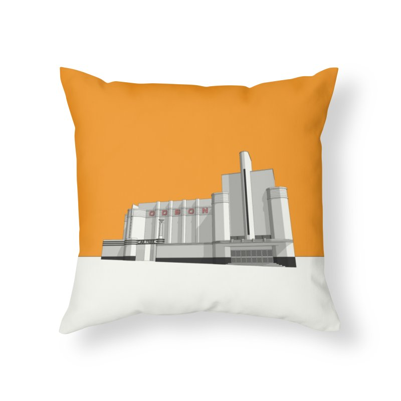 ODEON Woolwich Home Throw Pillow by Pig's Ear Gear on Threadless