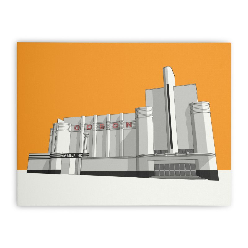 ODEON Woolwich Home Stretched Canvas by Pig's Ear Gear on Threadless