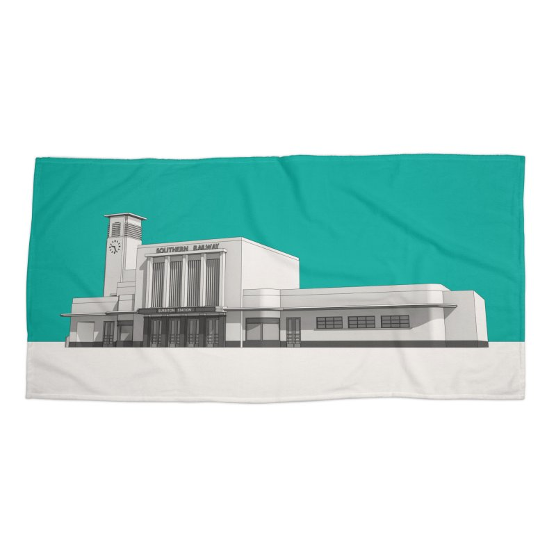 Surbiton Station Accessories Beach Towel by Pig's Ear Gear on Threadless