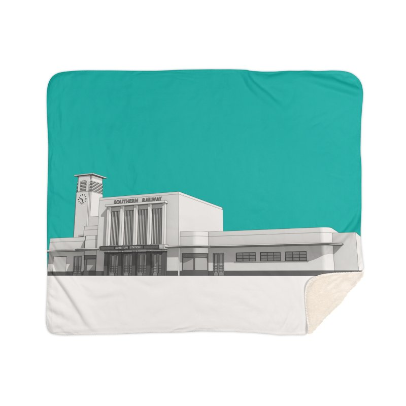 Surbiton Station Home Sherpa Blanket Blanket by Pig's Ear Gear on Threadless