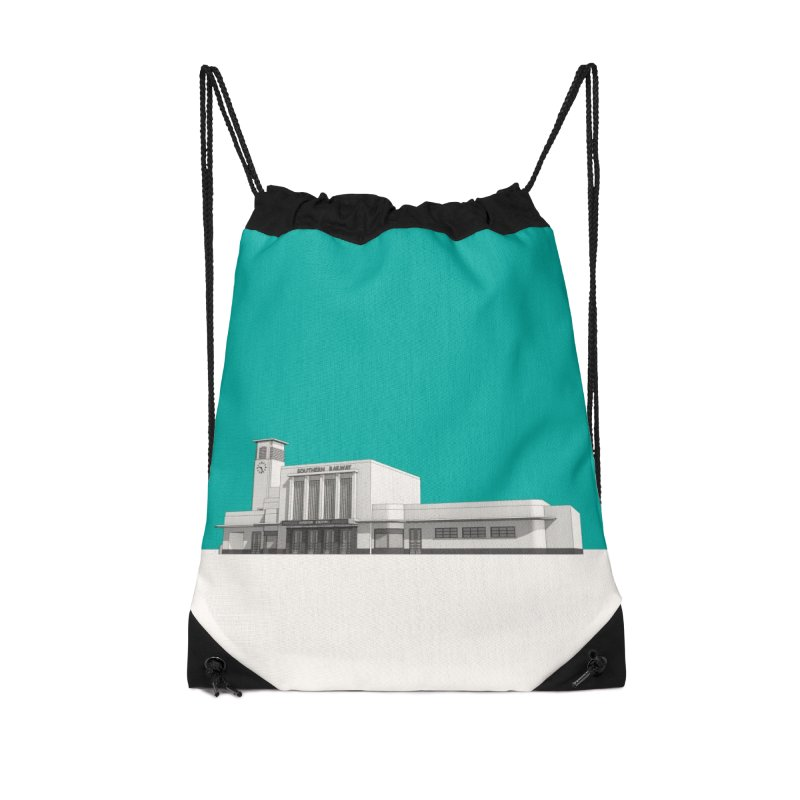 Surbiton Station Accessories Drawstring Bag Bag by Pig's Ear Gear on Threadless
