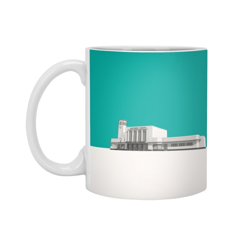 Surbiton Station Accessories Standard Mug by Pig's Ear Gear on Threadless