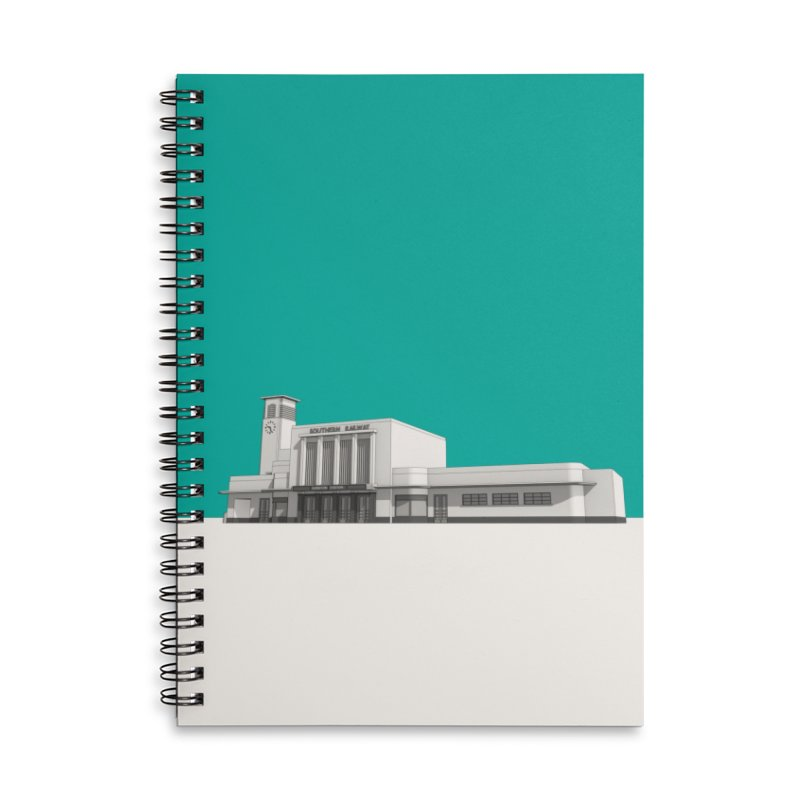 Surbiton Station Accessories Lined Spiral Notebook by Pig's Ear Gear on Threadless